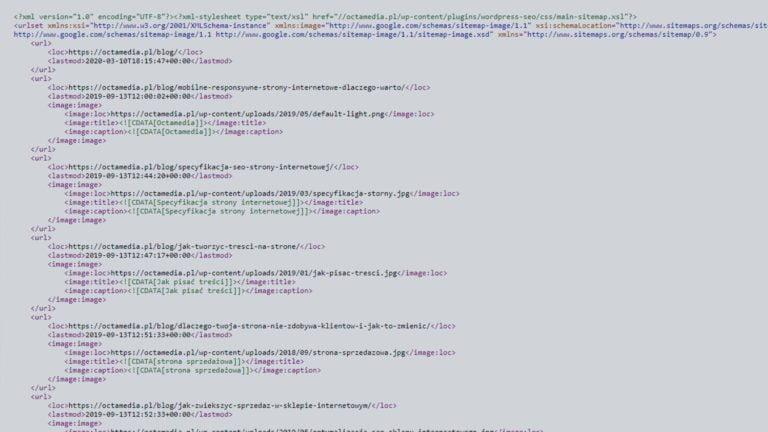 Mapa strony w formacie XML (sitemap.xml) – kompleksowy poradnik
